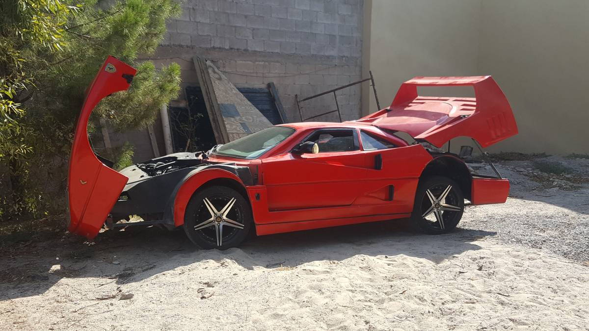 Behold the horror of this Nissan Sentra-based Ferrari F40