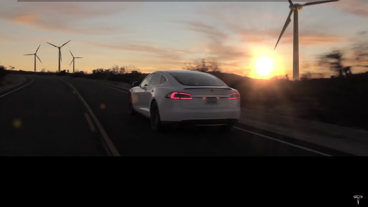 "Frame from ""Tesla—Not a Dream"" unofficial commercial video, 2016, directed by Freise Brothers"