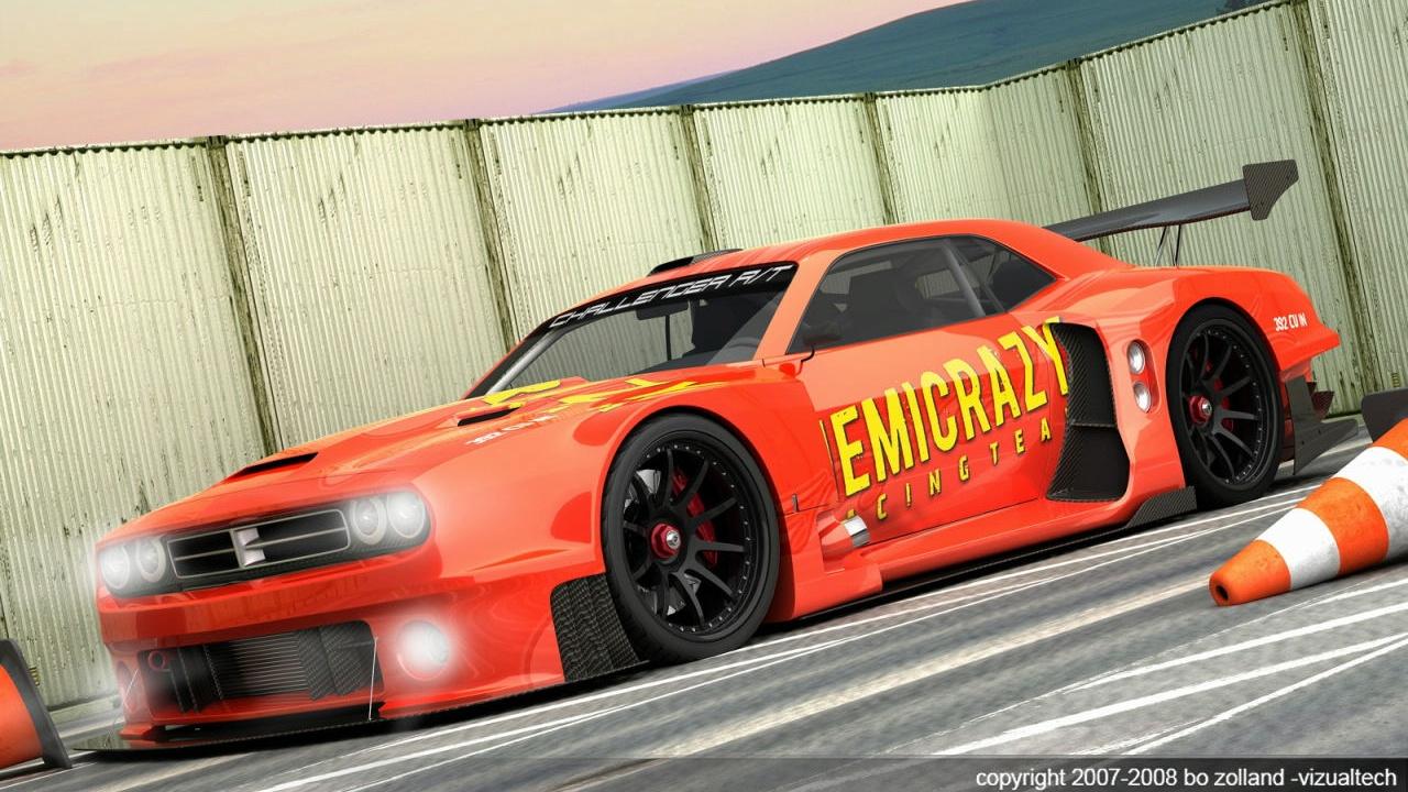vizualtech dodge challenger gt3 racer 003
