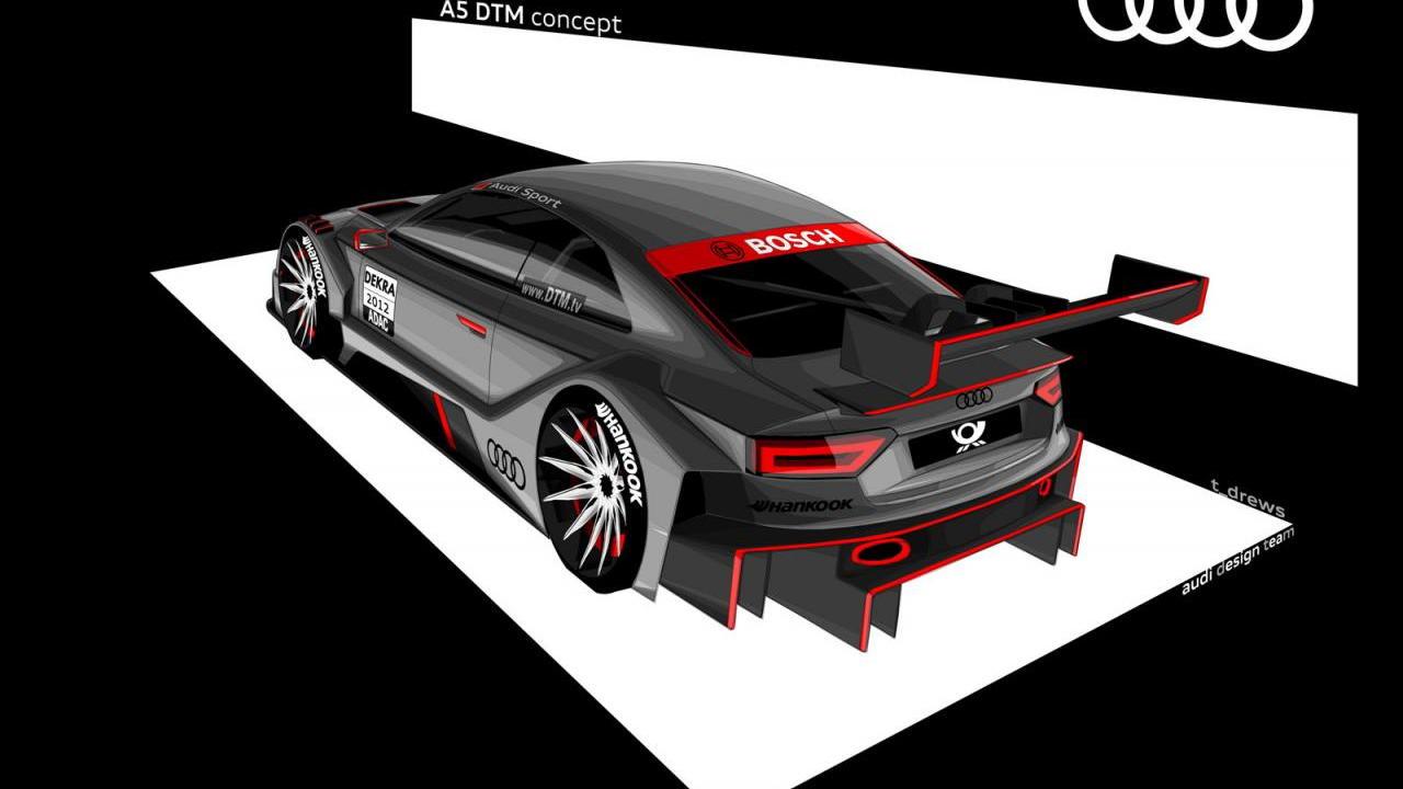 2012 Audi R17 A5 DTM race car preview sketch
