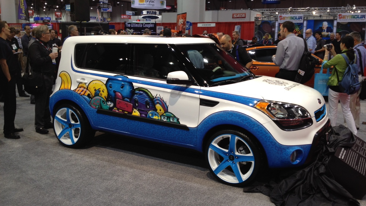 2012 Kia Soul Inspired By Michelle Wie: 2011 SEMA Live Photos