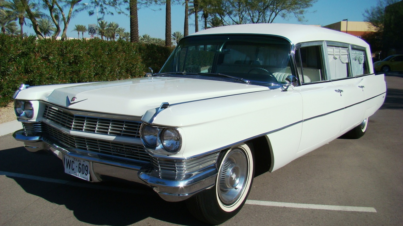 The 1964 Miller-Meteor Cadillac hearse offered by Barrett-Jackson. Image: Barrett-Jackson