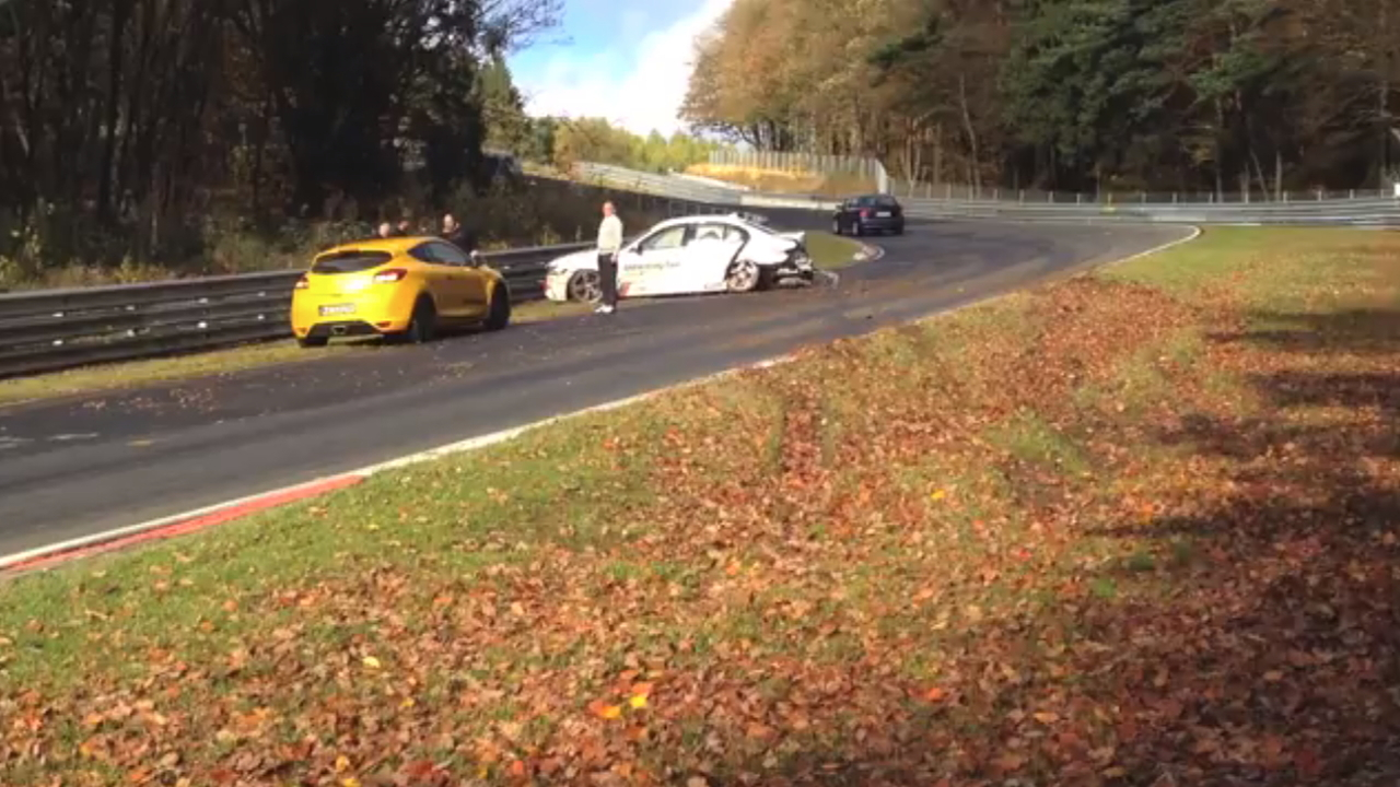BMW M5 Ring Taxi crashed at the Nurburgring