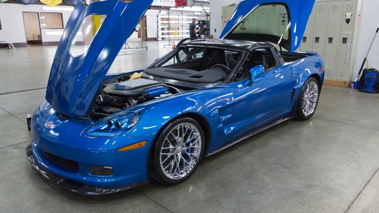 2009 Chevrolet Corvette ZR1 'Blue Devil' restoration