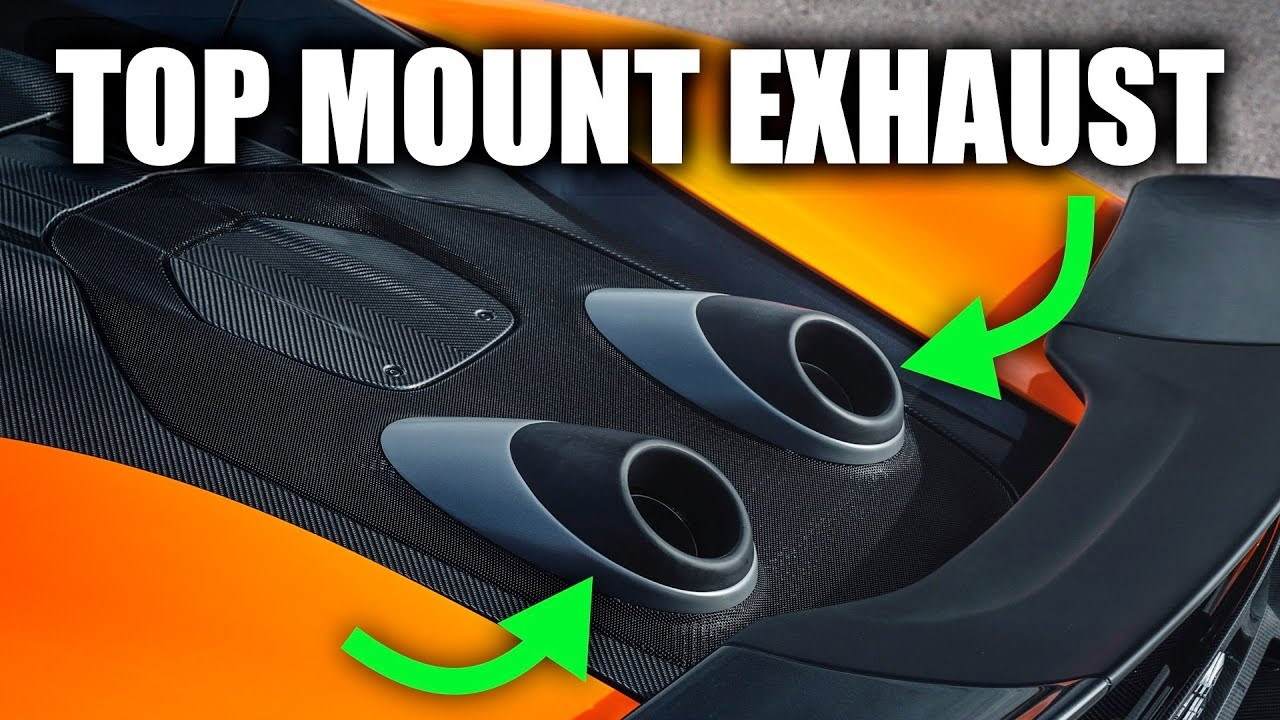 Why the McLaren 600LT has a top-mount exhaust