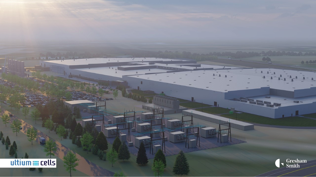 Conceptual drawing of Ultium Cells plant in Tennessee