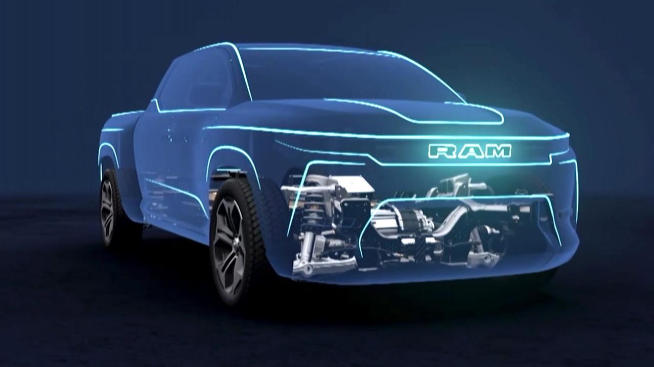 Ram 1500 BEV and platform  -  2021 Stellantis EV Day