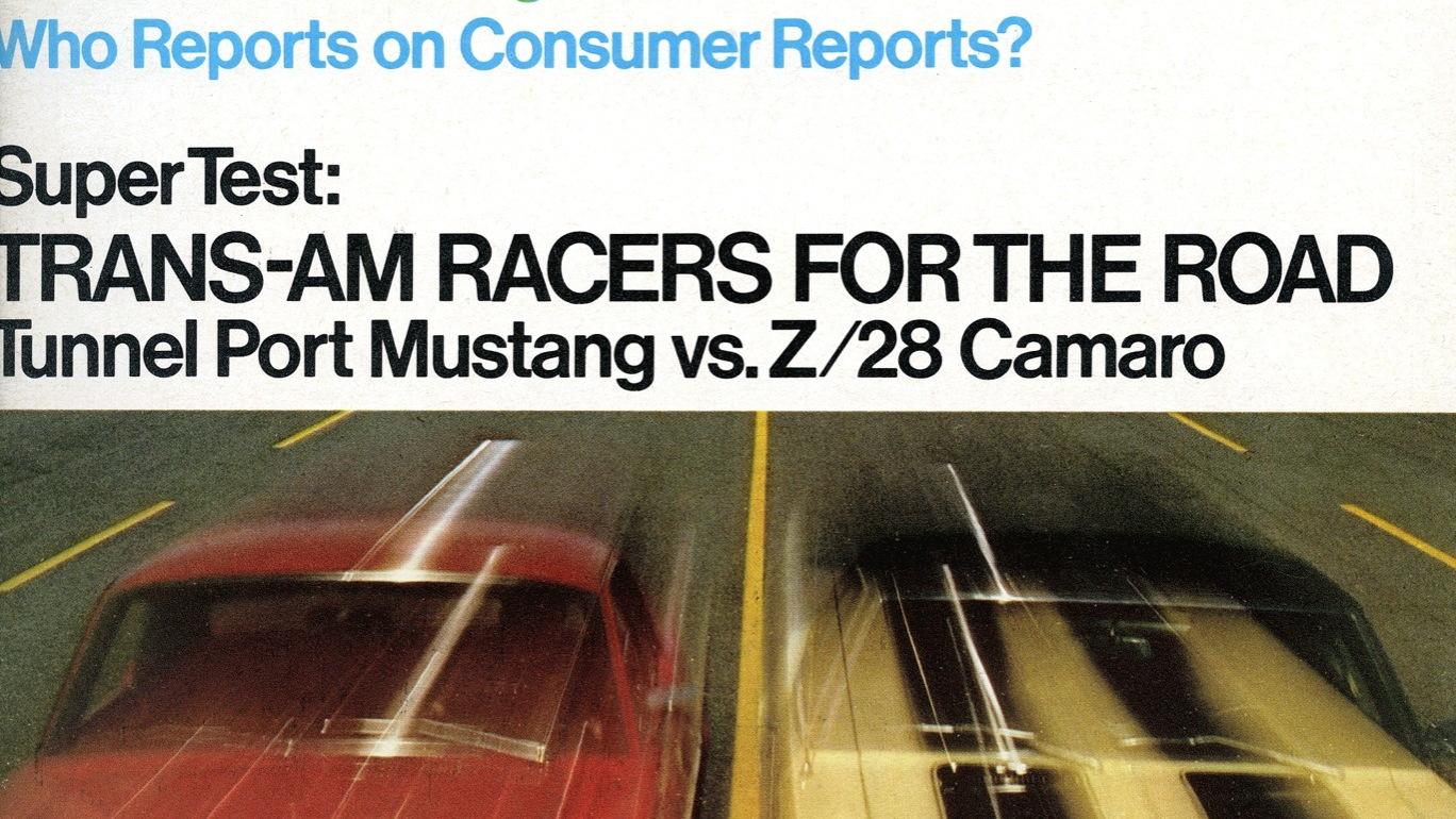 Camaro vs. Mustang magazine covers  -  courtesy GM