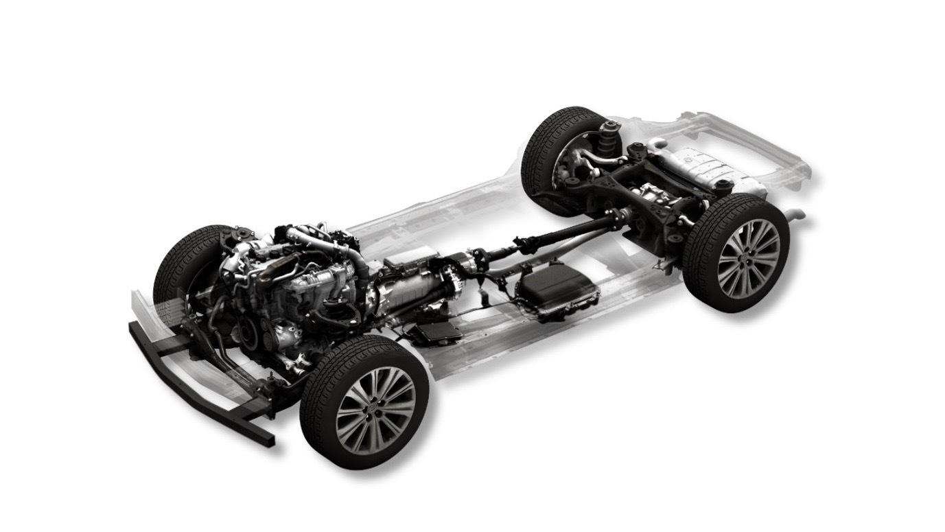 Mazda gasoline mild-hybrid powertrain
