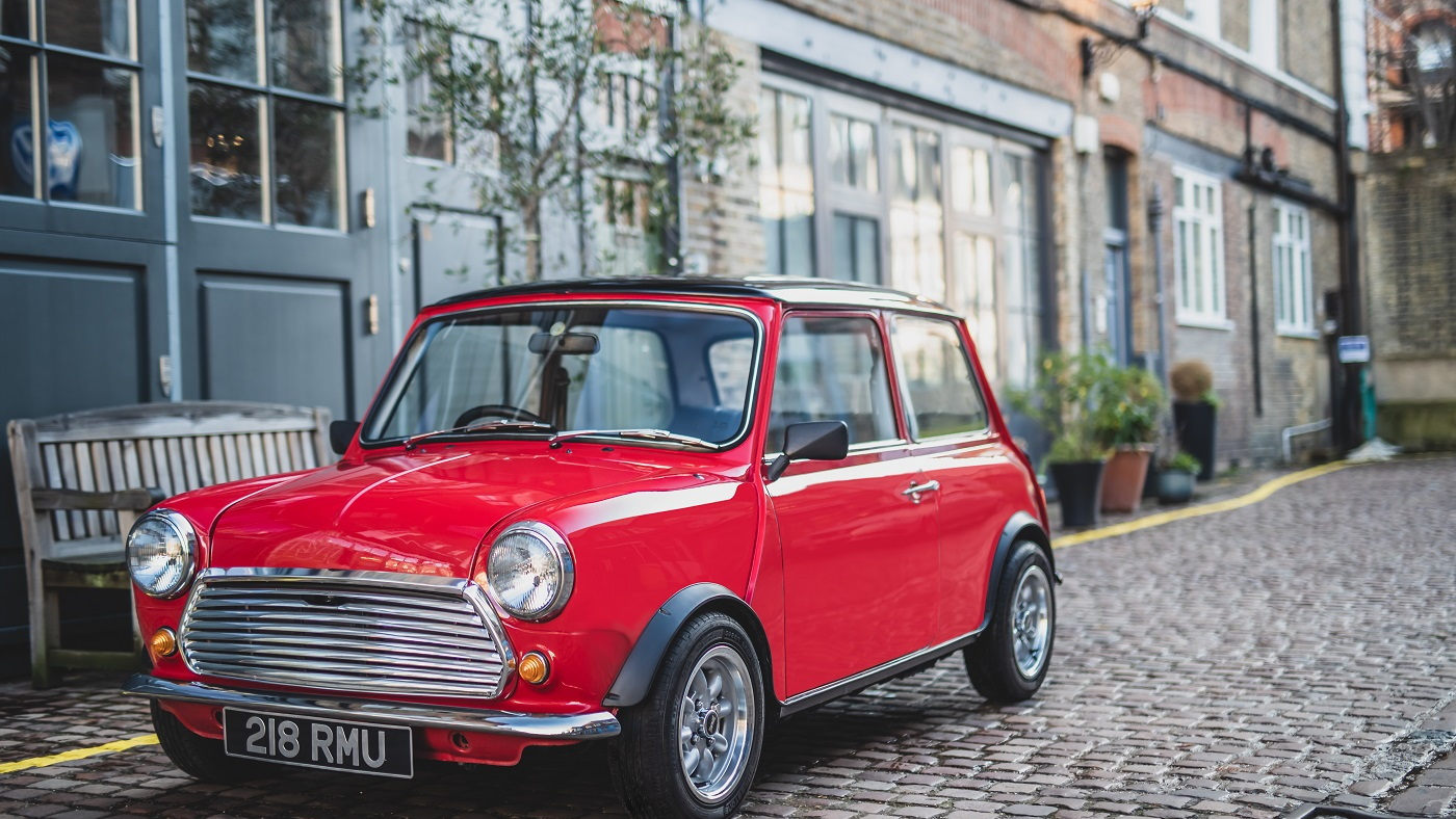 Classic Mini Cooper electric conversion by Swind