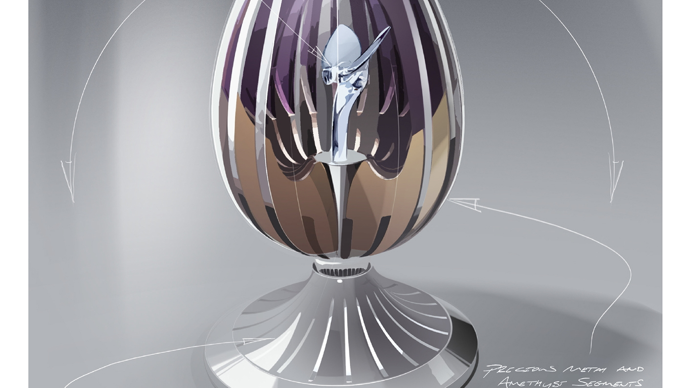 Rolls-Royce and Fabergé partner to build a special Spirit of Ecstasy egg