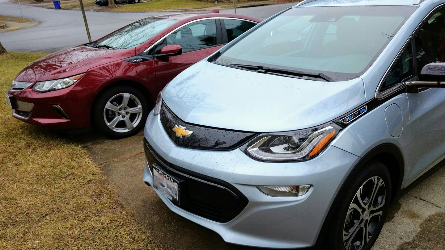 2017 Chevrolet Bolt EV electric car, owned by Brian Ro, Columbia, Maryland