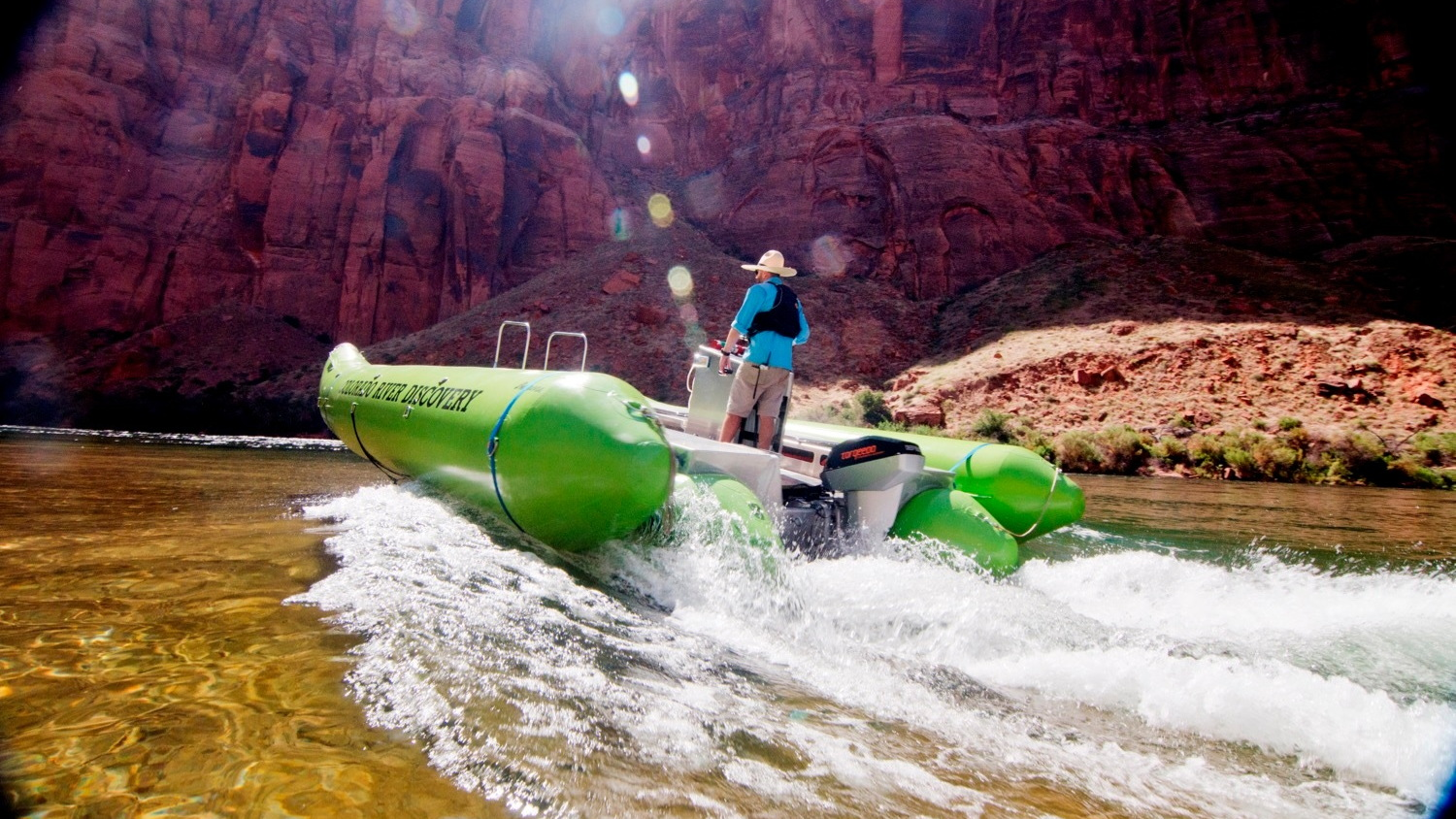 "Colorado River Discovery electric raft ""Helios"""