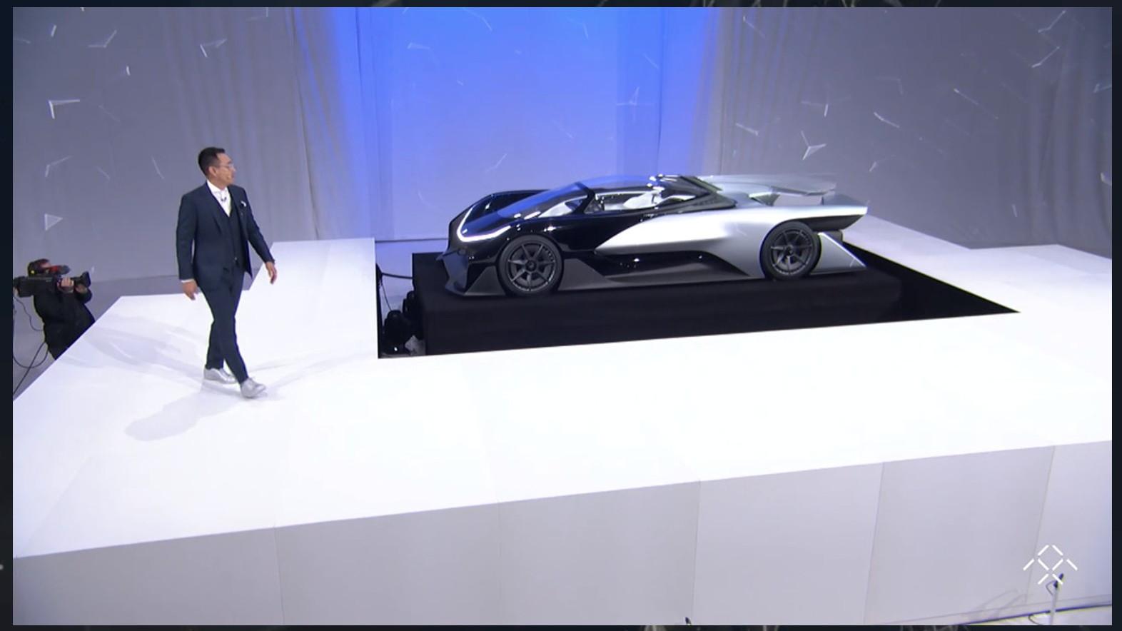 Faraday Future FFZERO1 concept, 2016 Consumer Electronics Show