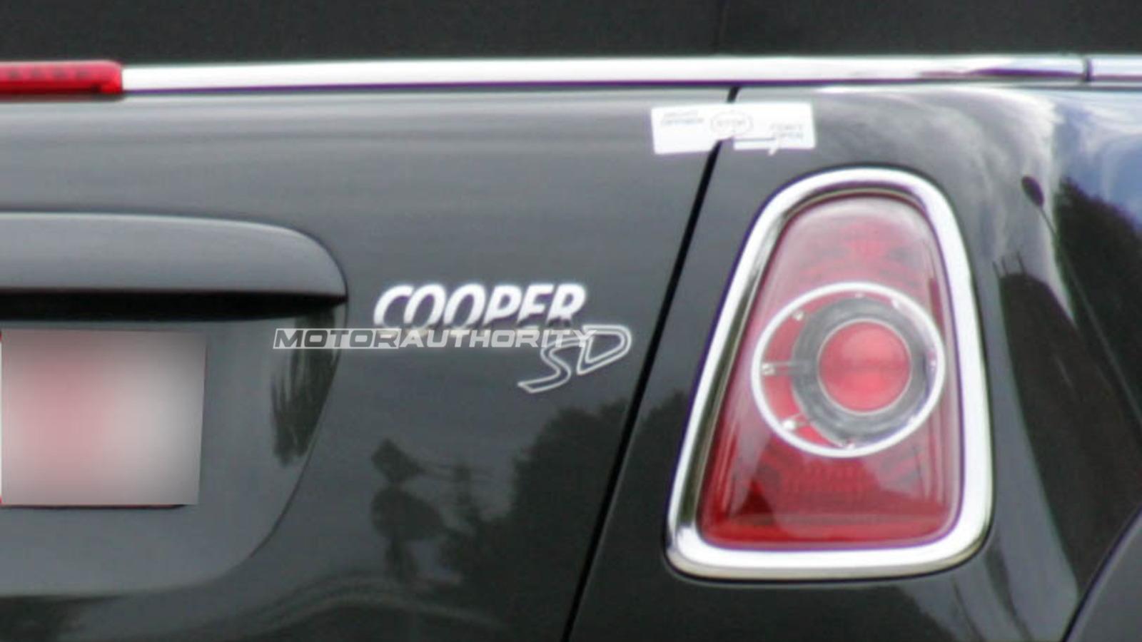 2012 MINI Cooper Diesel S spy shots