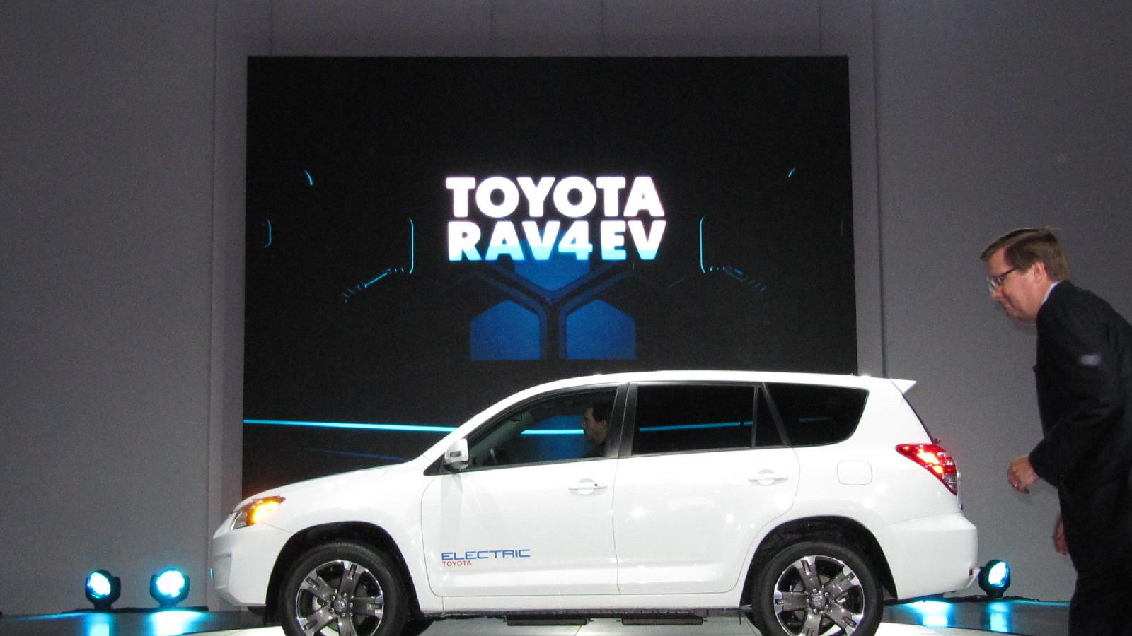 2012 Toyota RAV4 EV powered by Tesla, at 2010 Los Angeles Auto Show
