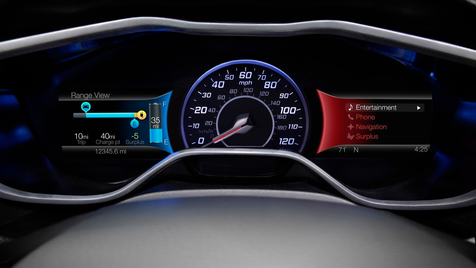 2012 Ford Focus Electric - gauge cluster