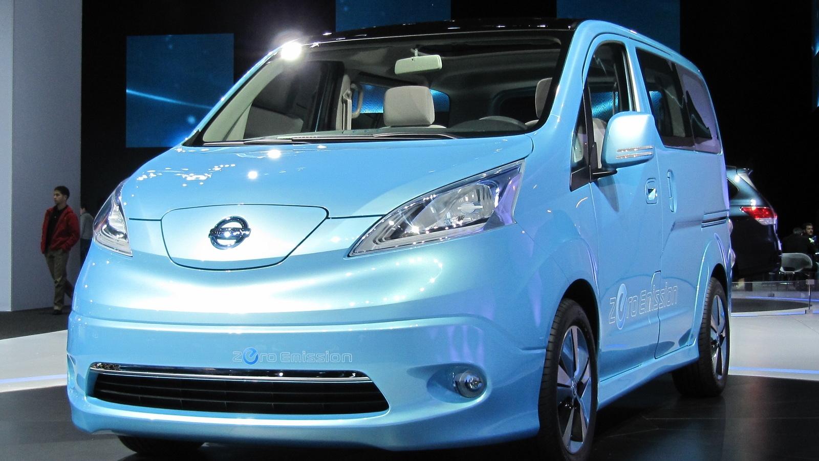 Nissan e-NV 200 Concept electric minivan, 2012 Detroit Auto Show