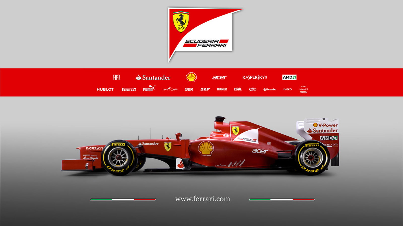 Ferrari F2012 2012 Formula 1 race car