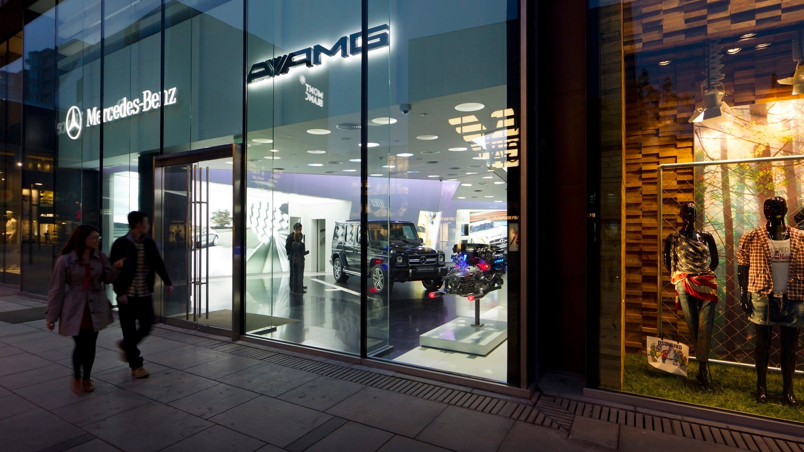 AMG's first stand alone dealership, the Beijing Sanlitun AMG Performance Center