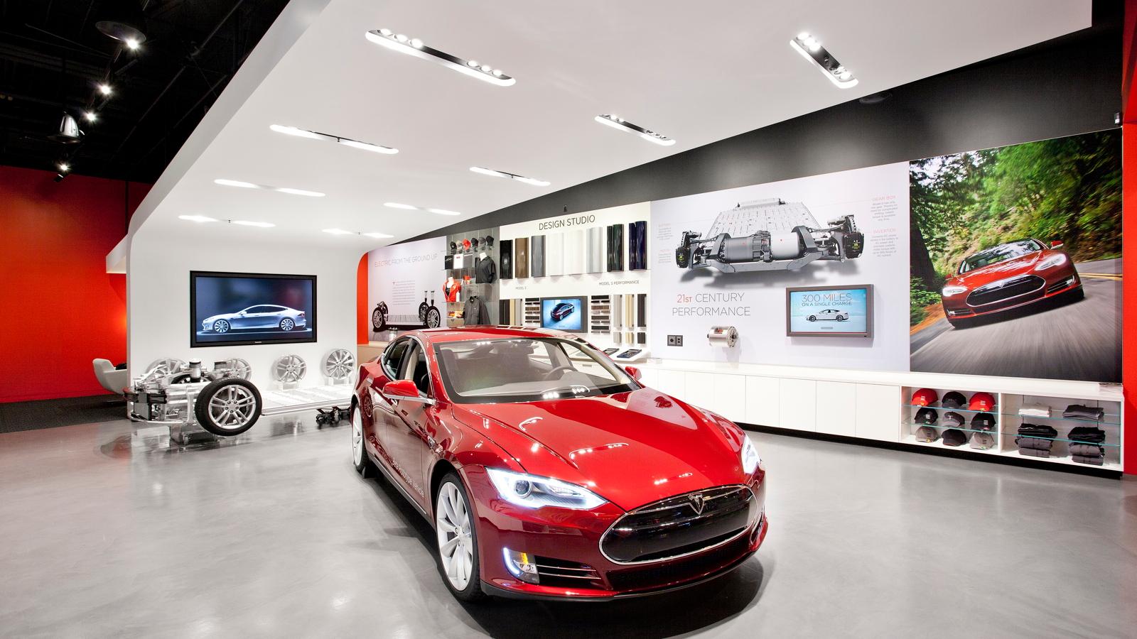 Tesla's retail store concept
