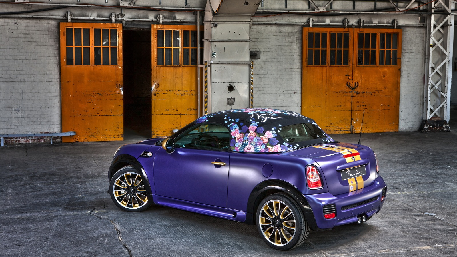 The Franca Sozzani designed MINI Roadster, created for Life Ball 2012