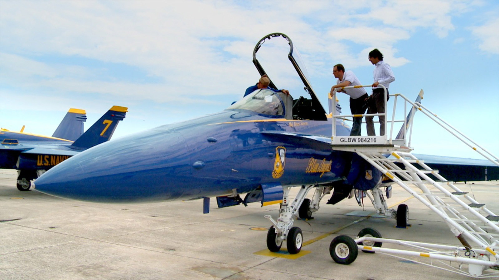 Nissan design team meets with the Blue Angels