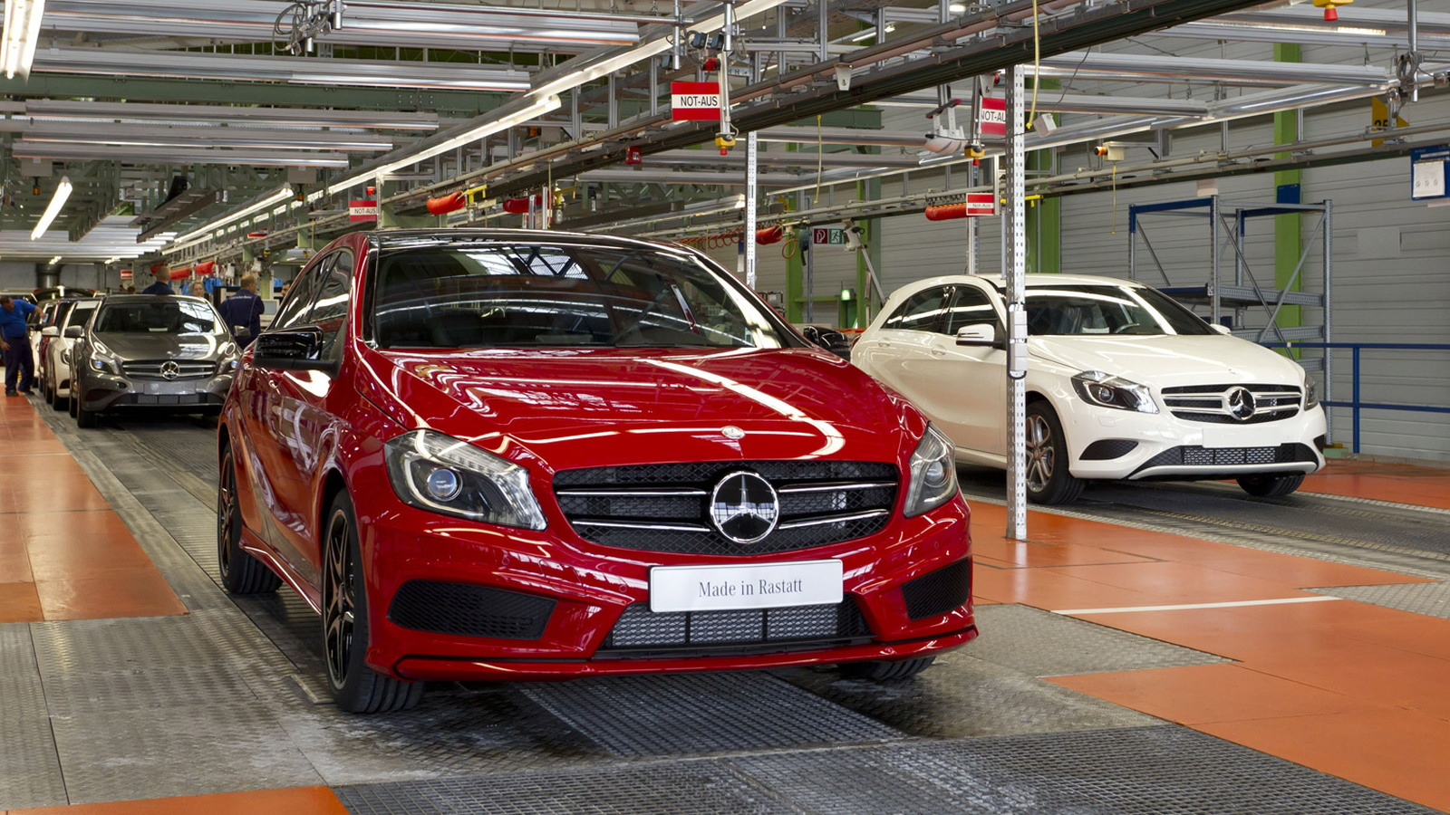 Production of Mercedes-Benz compact cars
