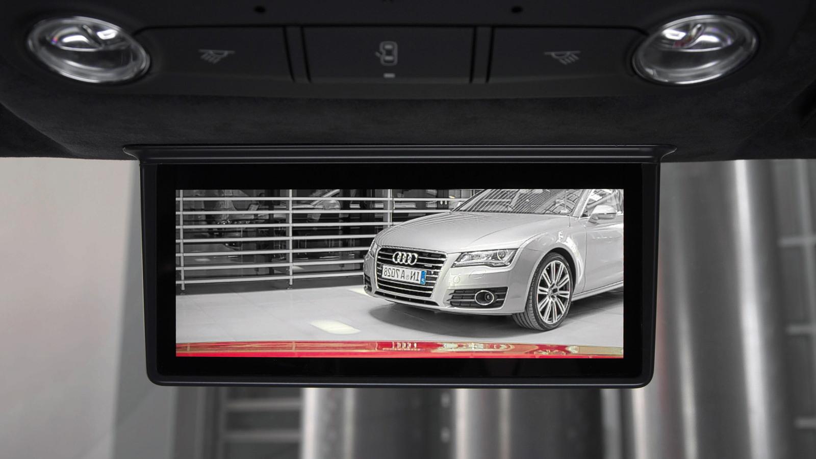 Audi's new digital rear-view mirror, which debuts in the 2013 Audi R8 e-tron