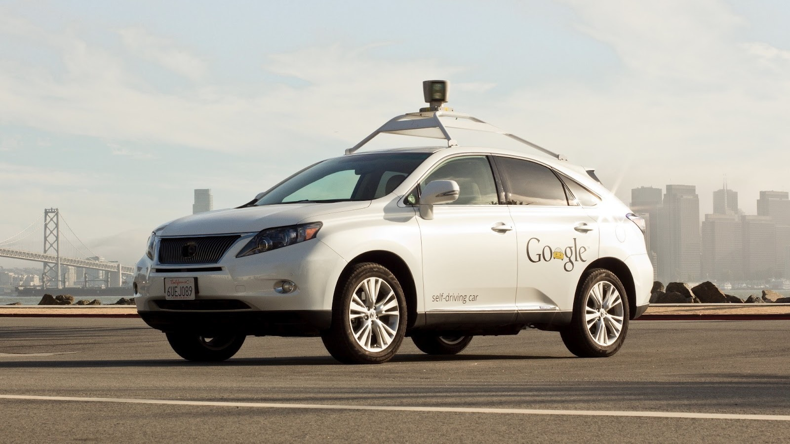 Google self-driving Lexus RX 450h hybrid sport-utility vehicle