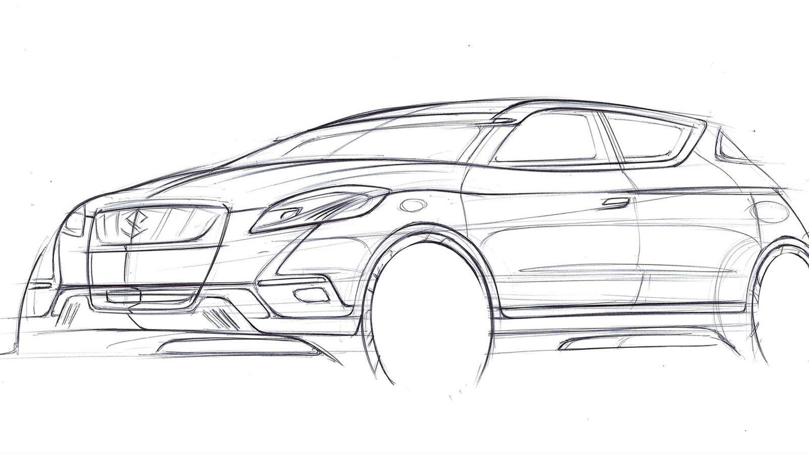 Suzuki S-Cross concept teased ahead of 2012 Paris Auto Show