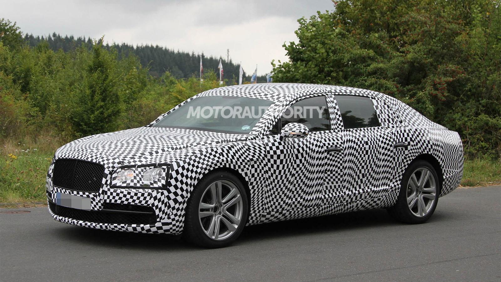 2014 Bentley Continental Flying Spur V8 spy shots