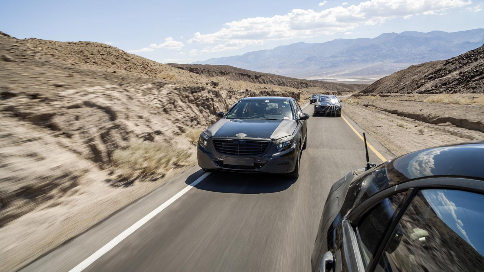2014 Mercedes-Benz S Class autonomous steering testing