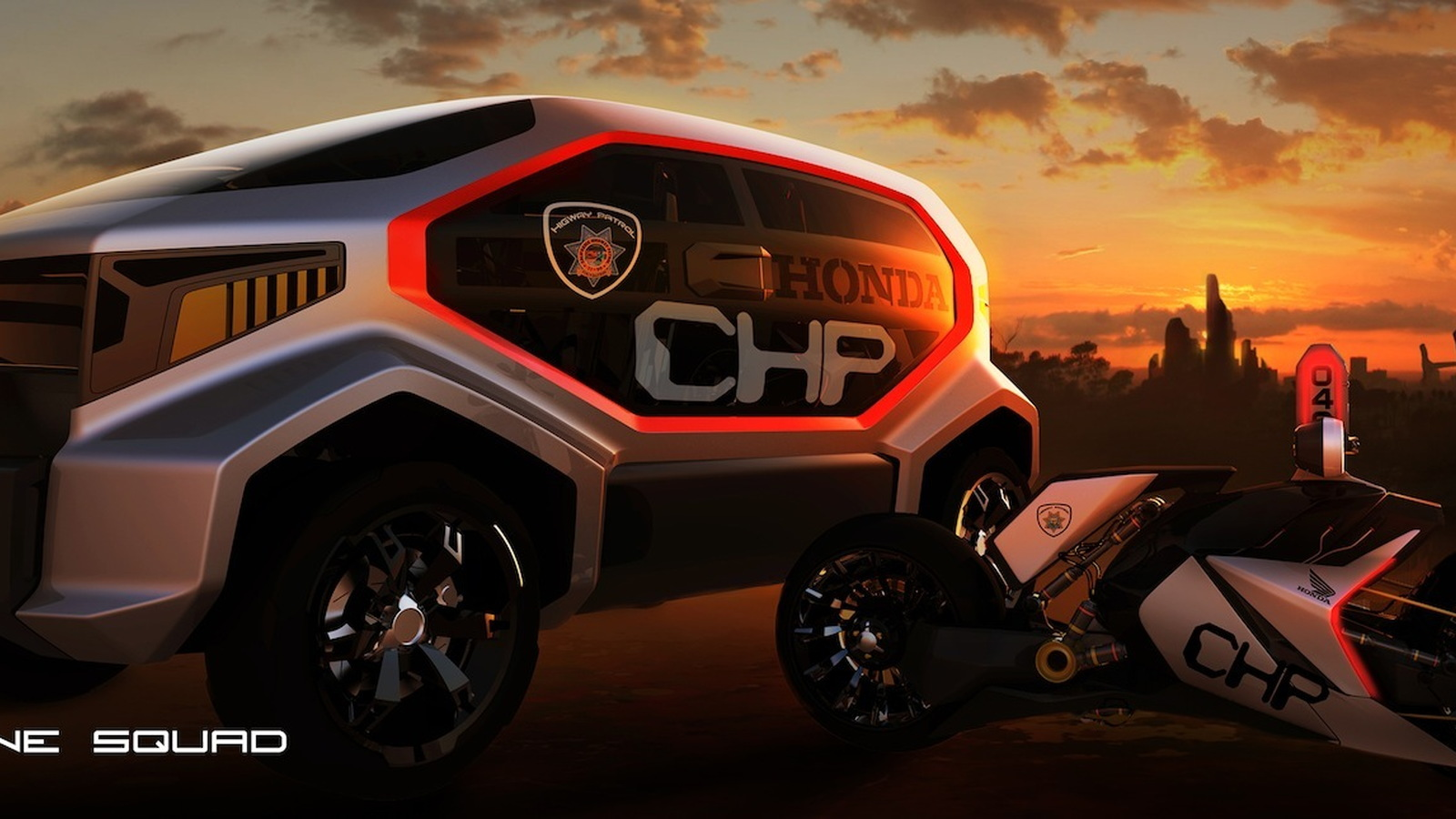Entries into the 'Highway Patrol Vehicle of 2025' design challenge