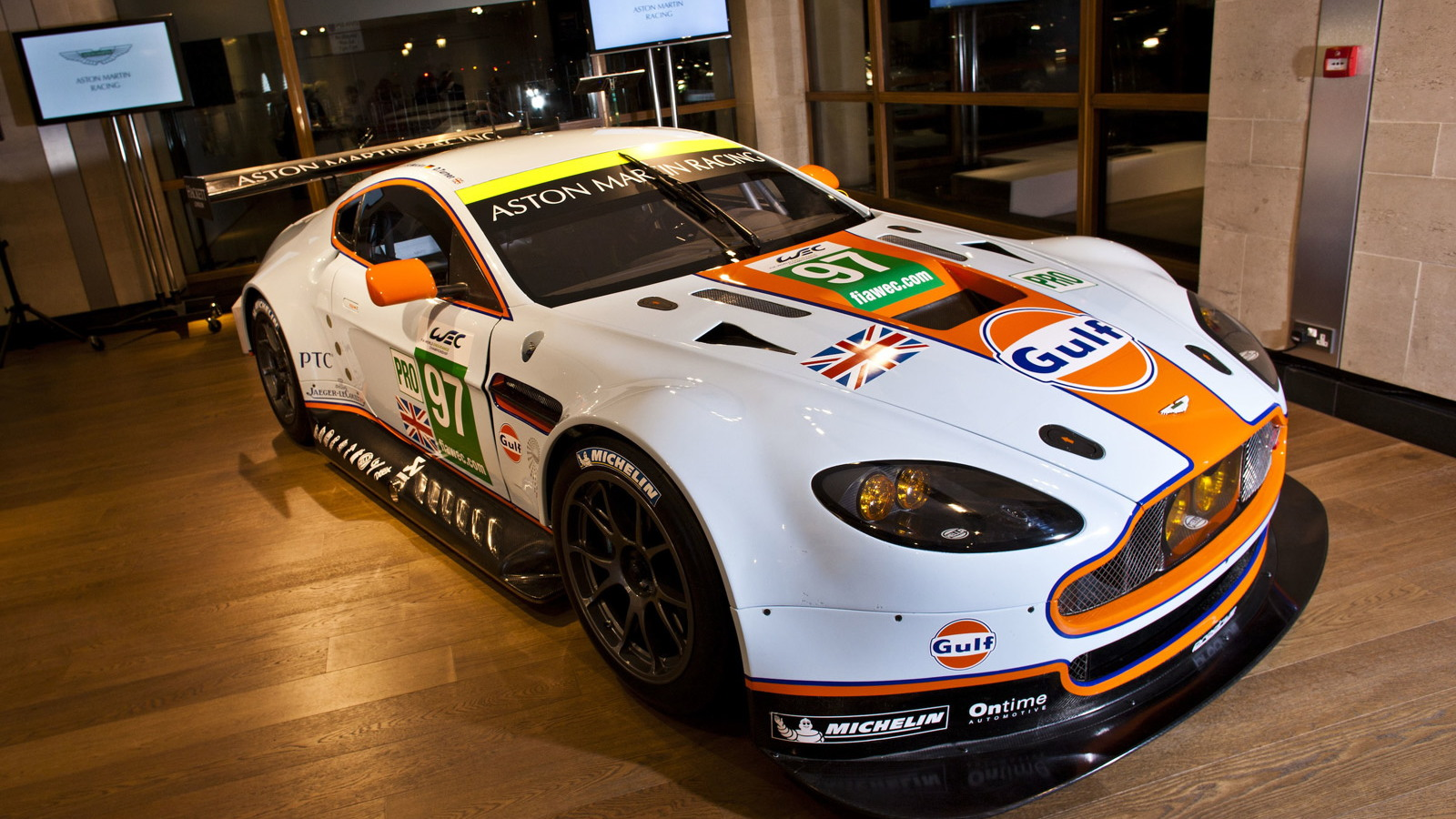 2013 Aston Martin Vantage GTE race car launch