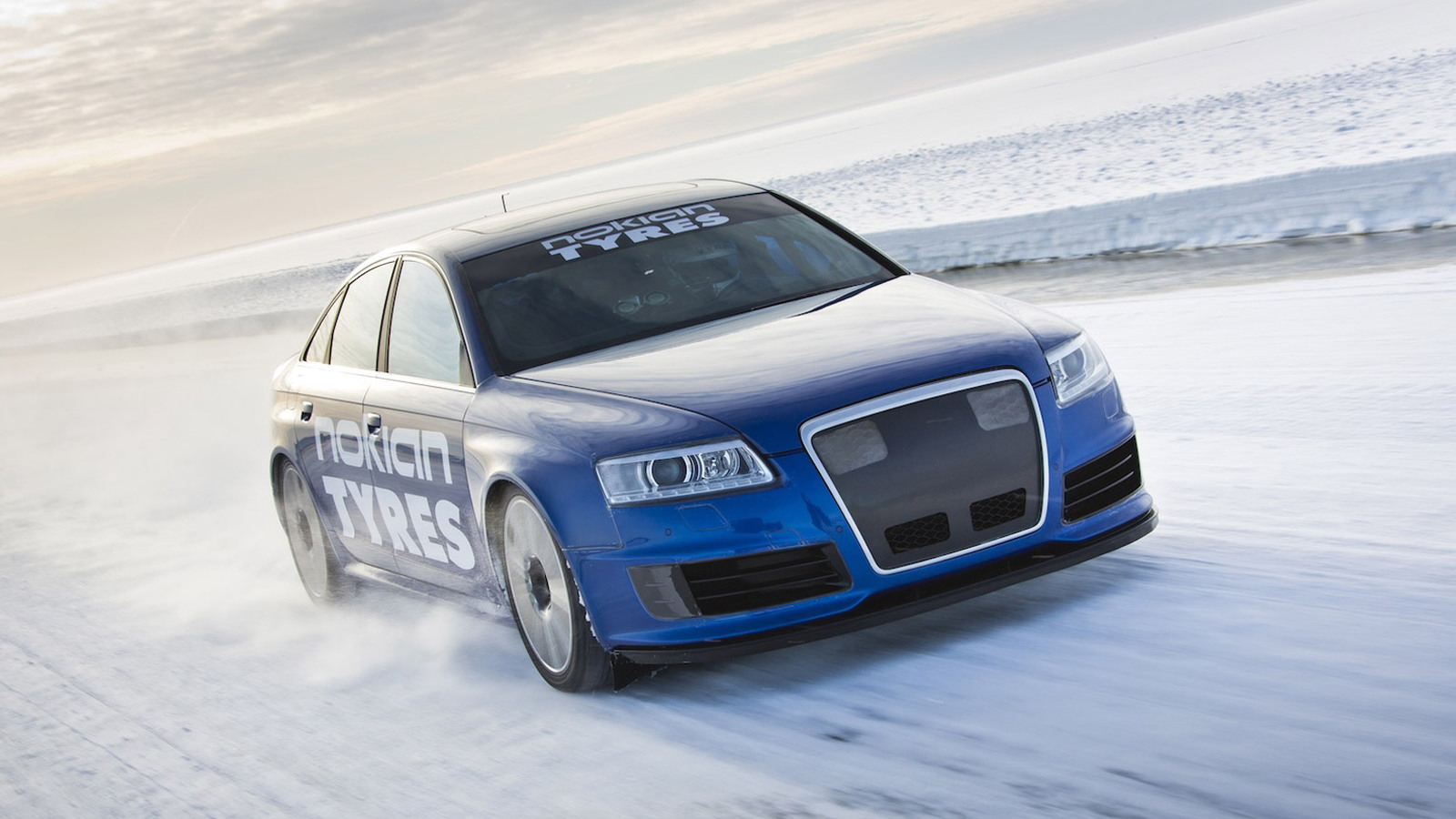 Nokian Tyres' Audi RS 6 driven to 208.6 mph on ice
