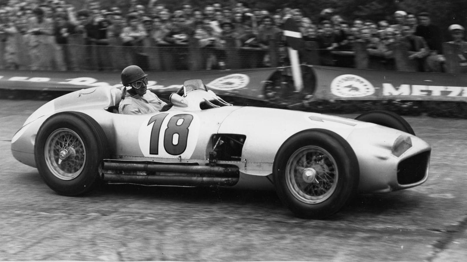 1954 Mercedes-Benz W196 driven by Juan Manuel Fangio