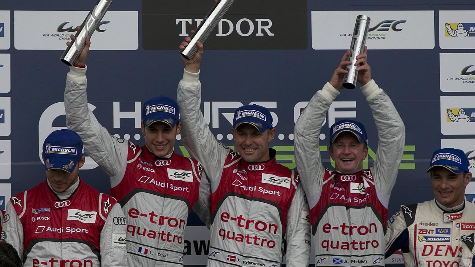 Audi R18 e-tron quattro in the 2013 WEC season opener at Silverstone