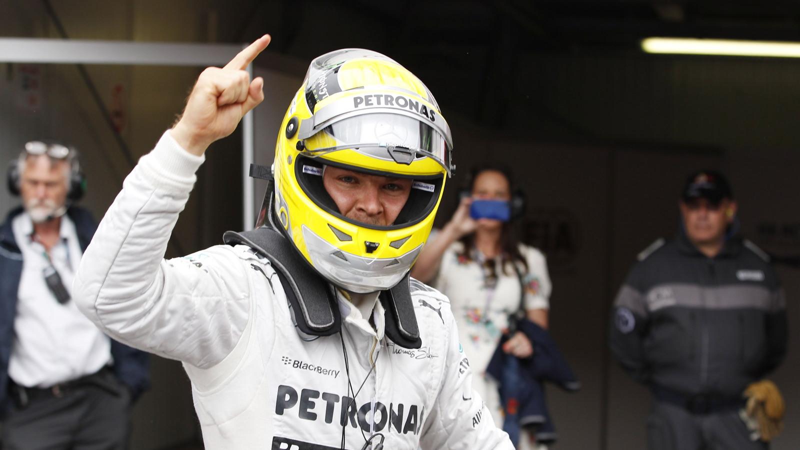 Mercedes AMG's Nico Rosberg at the 2013 Formula One Monaco Grand Prix