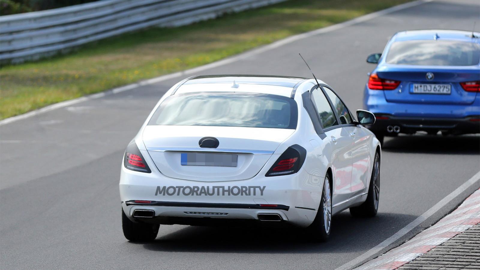 Mercedes-Maybach S-Class spy shots