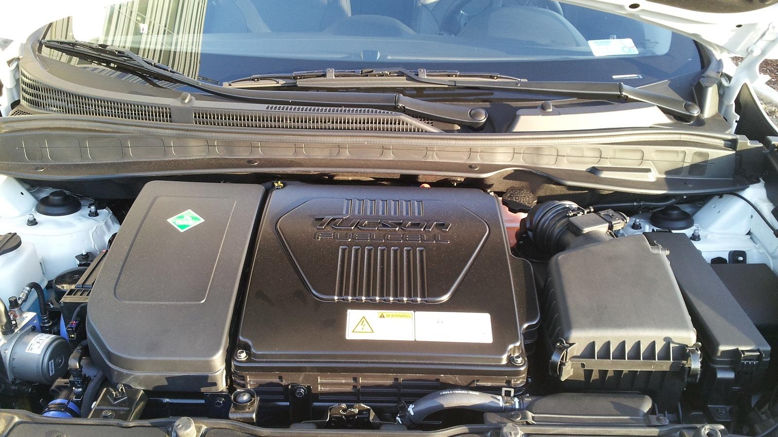 2015 Hyundai Tucson Fuel Cell at Hyundai headquarters, Fountain Valley, CA