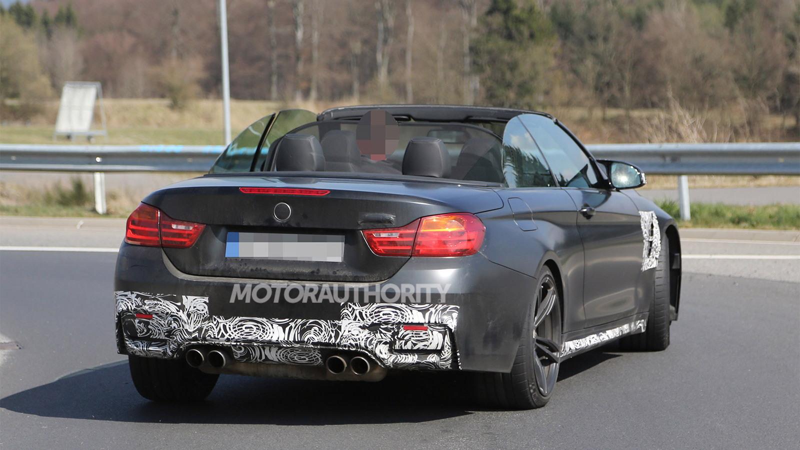 2015 BMW M4 Convertible spy shots