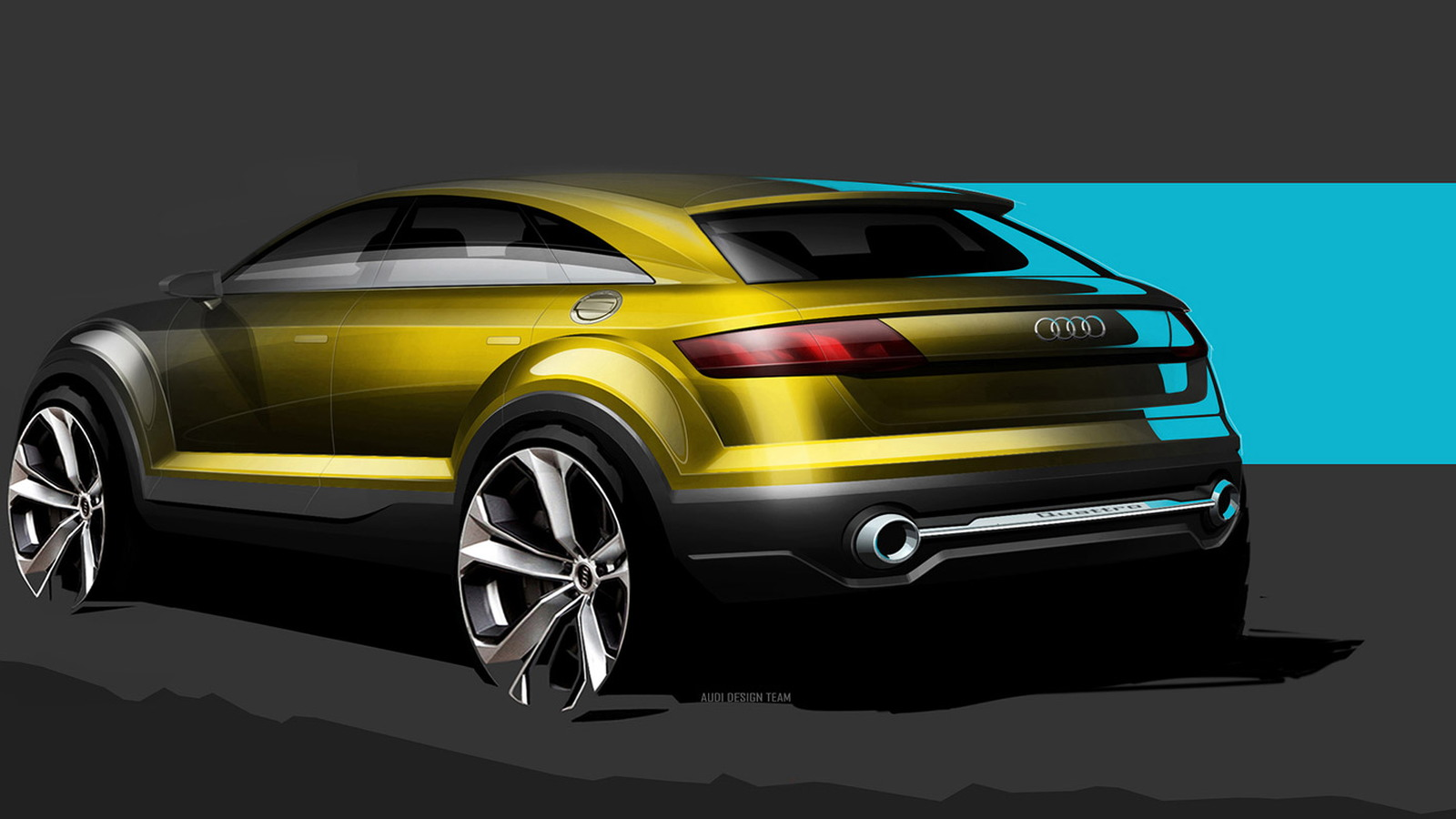 Teaser sketch for new Audi TT-based crossover concept