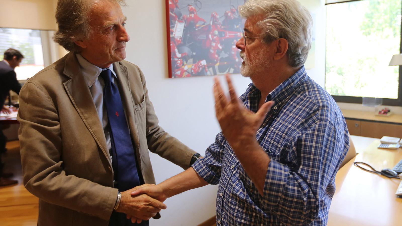 Luca di Montezemolo and George Lucas