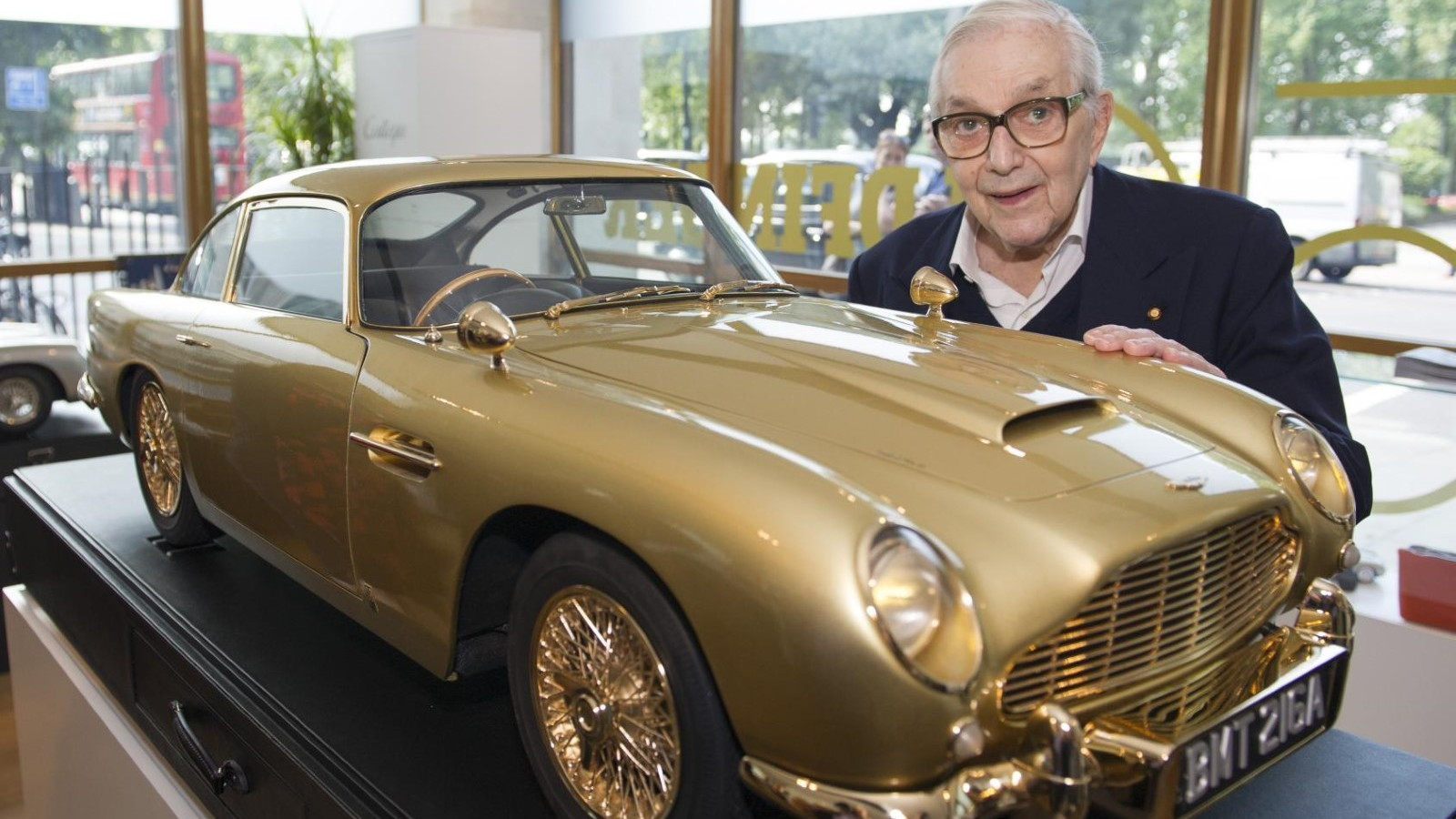 Gold-plated Aston Martin DB5 model, auctioned by Christie's
