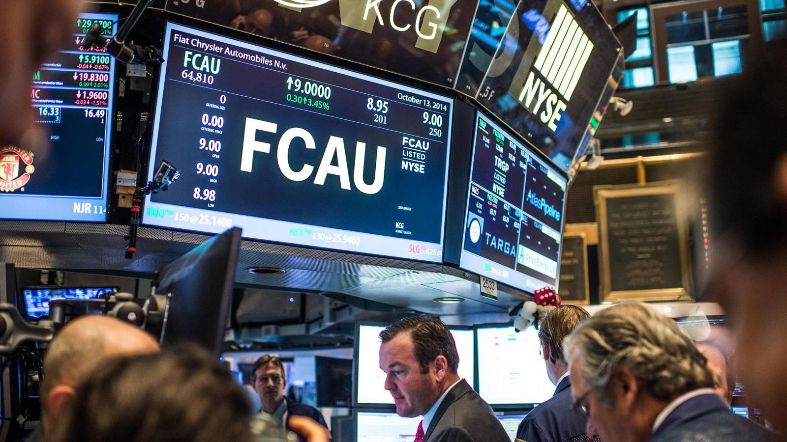 Fiat Chrysler Automobiles starts trading on the New York Stock Exchange