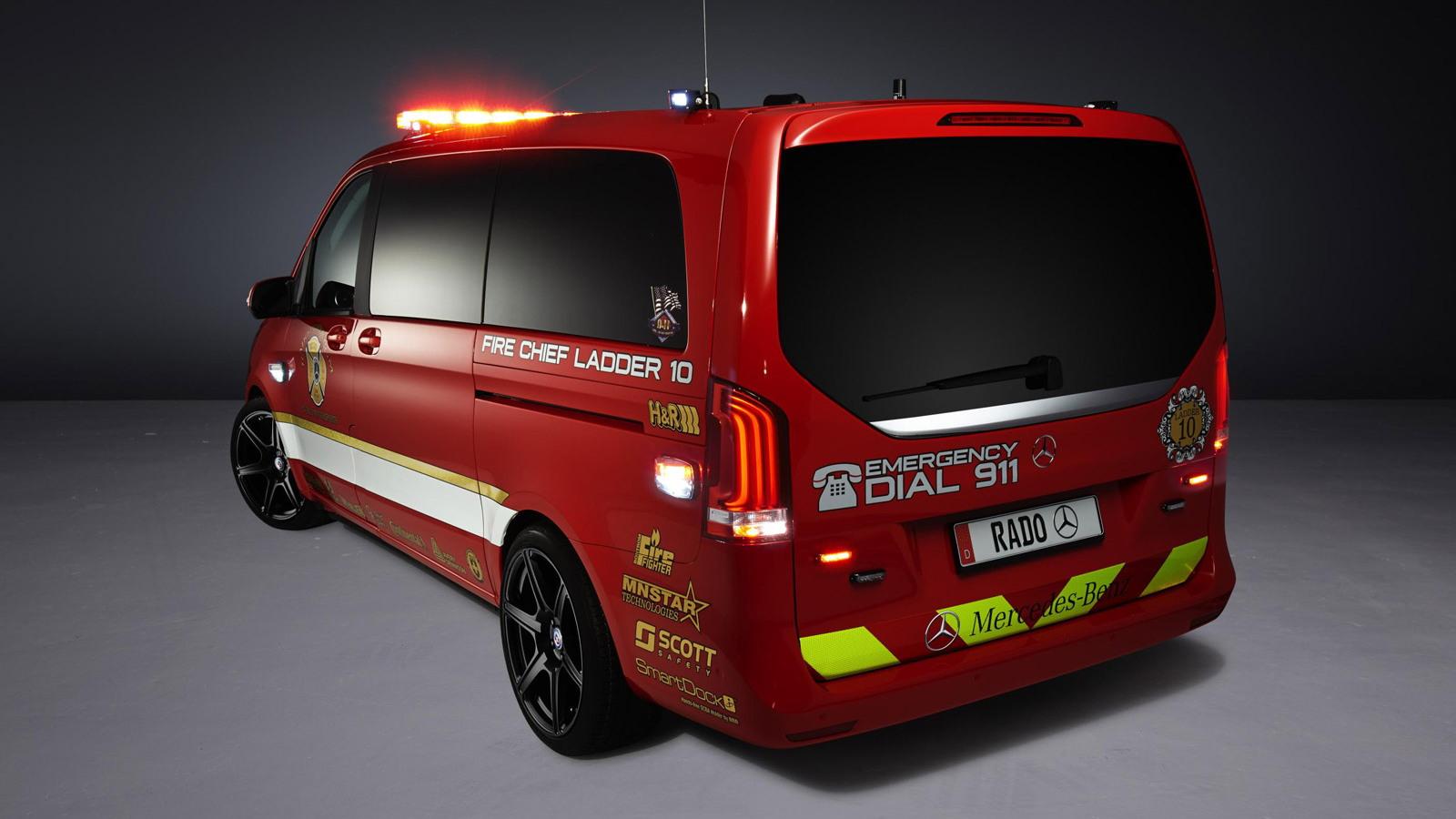 Mercedes-Benz Metris Fire Chief Concept Truck by Rado, 2014 SEMA show