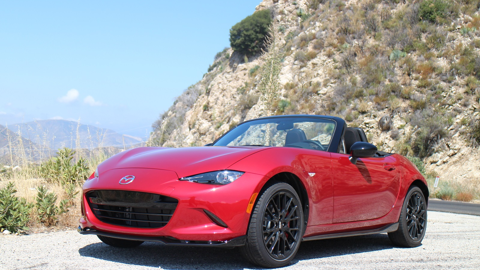 2016 Mazda MX-5 Miata drive, Southern California, July 2015