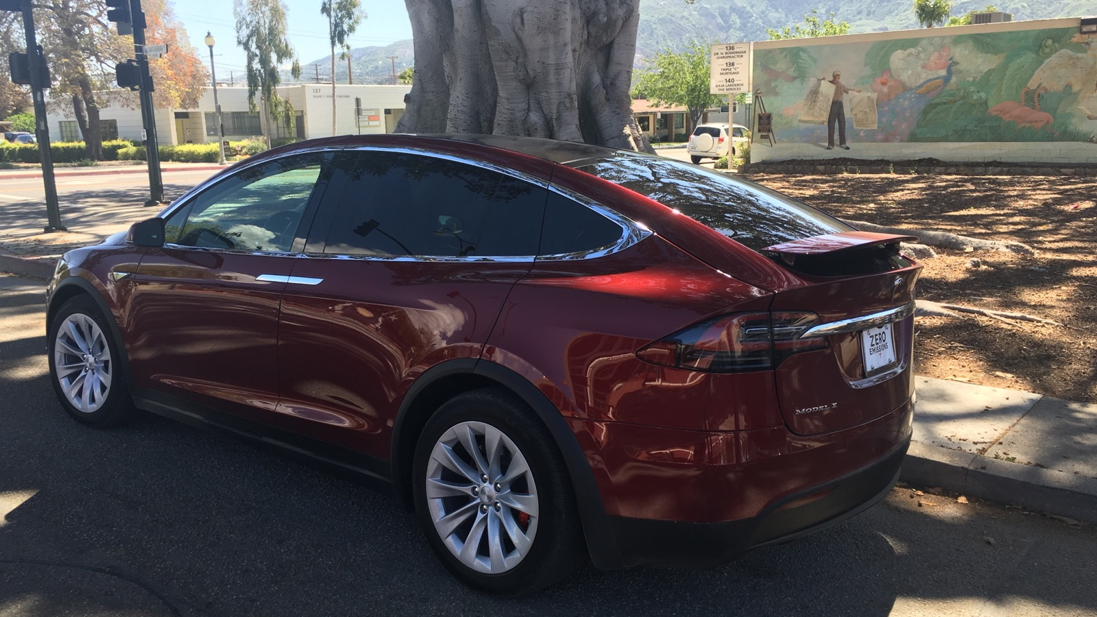 2016 Tesla Model X owned by Ron Merkord, March 2016  [photo: David Noland]