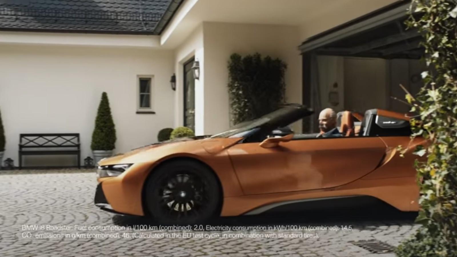 BMW i8 ad  -  Dieter Zetsche lookalike